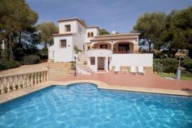 Большая, комфортабельная вилла   с частным бассейном на 8 человек в Хавии, нa Коста Бланкe, в Испани, Javea