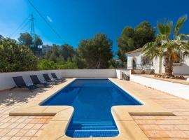 Villa rústica y confortable  con piscina privada en Altea, en la Costa Blanca, España para 4 personas