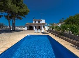 Casa rural en Benissa, en la Costa Blanca, España  con piscina privada para 7 personas