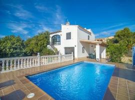 Villa rústica y graciosa  con piscina privada en Benissa, en la Costa Blanca, España para 4 personas