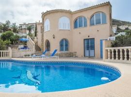 Villa bonita y romántica en Benitachell, en la Costa Blanca, España  con piscina privada para 4 personas
