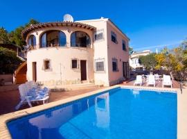 Villa bonita y confortable  con piscina privada en Benitachell, en la Costa Blanca, España para 8 personas