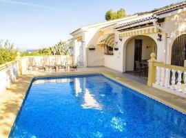 Villa maravillosa y confortable  con piscina privada en Benitachell, en la Costa Blanca, España para 6 personas