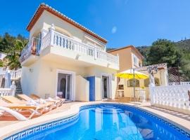 Villa bonita y romántica  con piscina privada en Benitachell, en la Costa Blanca, España para 6 personas