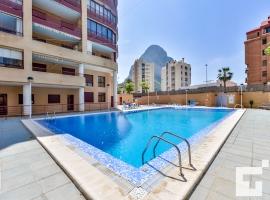 Apartamento en Calpe, en la Costa Blanca, España  con piscina comunitaria para 4 personas