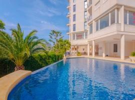 Apartamento maravilloso y romántico  con piscina comunitaria en Calpe, en la Costa Blanca, España para 4 personas