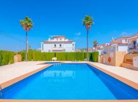Casa de vacaciones bonita y clásica  con piscina comunitaria en Calpe, en la Costa Blanca, España para 2 personas