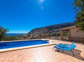 Casa rural en Calpe, en la Costa Blanca, España  con piscina privada para 4 personas