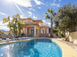 Villa maravillosa y confortable  con piscina privada en Denia, en la Costa Blanca, España para 6 personas