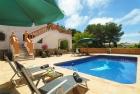 Bernia,Villa grande y graciosa  con piscina privada en Javea, en la Costa Blanca, España para 4 personas...