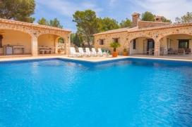 Villa grande y confortable  con piscina privada en Lliber, en la Costa Blanca, España para 8 personas, Lliber