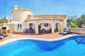 Villa bonita y confortable  con piscina privada en Moraira, en la Costa Blanca, España para 6 personas, Moraira