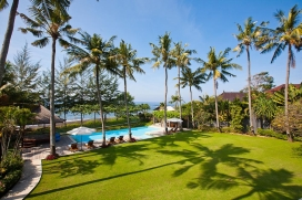 Bali's most magical and private haven Puri Nirwana (Heavenly Villa) is nestled absolute beachfront on the eastern coast of the Island of the Gods. Let the fresh gentle breezes that skim the Indian Ocean wash over you and rejuvenate your entire , Sanur
