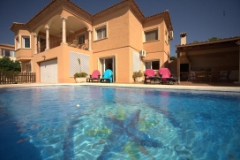 Rustic and nice holiday house in La Nucia, on the Costa Blanca, Spain  with private pool for 6 persons, Altea