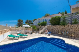 Holiday home  with private pool in Benissa, on the Costa Blanca, Spain for 2 persons, Benissa