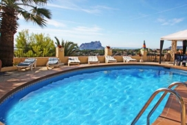 Large and comfortable villa for rent   in Benissa, Costa Blanca, Spain  with private pool, for a maximum of 10 persons.This villa is situated  in a  hilly and residential area. The accommodation has a lot of privacy, a garden with trees and  a wonder, Benissa