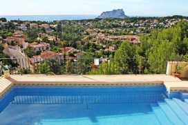 Large and comfortable villa for rent   with private pool, in Benissa, Costa Blanca, Spain for a maximum of 8 persons.This villa is situated  in a  hilly and residential area. The accommodation has a lot of privacy, a garden with gravel and trees and , Benissa