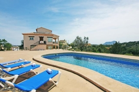Villa  with private pool in Benissa, on the Costa Blanca, Spain for 16 persons, Benissa