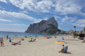 "Holiday rental apartment in Calpe (Costa Blanca) for maximum 6 people.Nice apartment of new construction (2005) placed in the first line of the ""Levante"" beach from Calpe, which is situated at the promenade and the sea., Calpe"