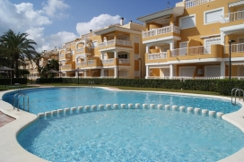 The apartment is situated in Denia, only 230m. to the sandy beach, 1,5km., Denia