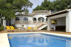 Lovely and comfortable holiday home  with private pool in Javea, on the Costa Blanca, Spain for 6 persons, Javea