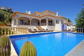 Large and comfortable villa  with private pool in Javea, on the Costa Blanca, Spain for 8 persons, Javea