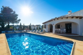 Lovely and comfortable villa in Javea, on the Costa Blanca, Spain  with private pool for 8 persons, Javea