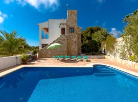 Holiday home in Moraira, on the Costa Blanca, Spain  with private pool for 8 persons