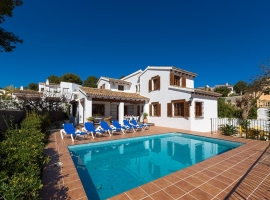 Villa in Moraira, on the Costa Blanca, Spain  with private pool for 2 persons