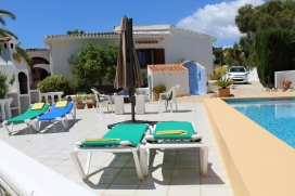 Beautiful and classic villa  with private pool in Moraira, on the Costa Blanca, Spain for 4 persons, Moraira