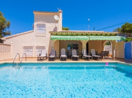 Villa in Moraira, on the Costa Blanca, Spain  with private pool for 4 persons