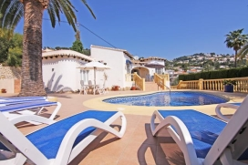 Beautiful and comfortable villa  with private pool in Moraira, on the Costa Blanca, Spain for 2 persons, Moraira