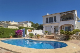 Beautiful and comfortable villa in Moraira, on the Costa Blanca, Spain  with private pool for 4 persons, Moraira