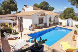 Large and nice villa in Moraira, on the Costa Blanca, Spain  with private pool for 6 persons, Moraira