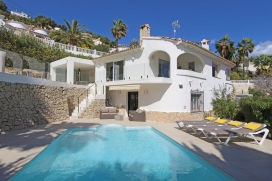 Lovely and comfortable villa in Moraira, on the Costa Blanca, Spain  with private pool for 10 persons, Moraira