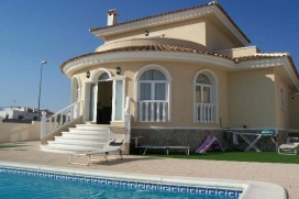 A fantastic, modern, detached, luxury villa with fantastic views of the salt lakes and the mediterranean sea. With a large private pool area and outside seating and sun loungers., Quesada