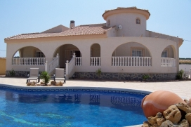 This luxury villa has furnished accommodation for 6 people. It has a secluded location in the private residential area of Quesada, Rojales., Quesada