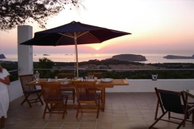 Comfortable house with many terraces, enjoying superb views over the sea and the islands of Conejera Espartar. Located on a hill overlooking Cala Conta´s bay, just 2km away from this beautiful beach., Cala Conta