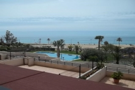 Mooi en luxe appartement  met gemeenschappelijk zwembad in Villajoyosa, aan de Costa Blanca, Spanje voor 5 personen, Villajoyosa