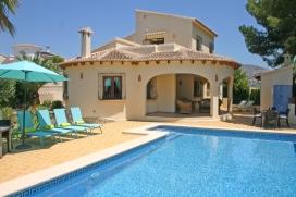 Villa  mit privatem Pool in Moraira, an der Costa Blanca, Spanien für 6 Personen, Moraira
