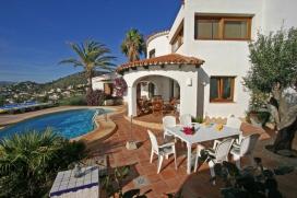 Rustikale und komfortable Villa in Moraira, an der Costa Blanca, Spanien  mit privatem Pool für 4 Personen, Moraira
