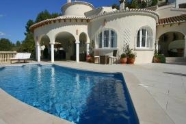 Moderne und komfortable Villa  mit privatem Pool in Moraira, an der Costa Blanca, Spanien für 6 Personen, Moraira