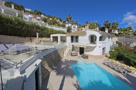 Liebliche und komfortable Villa  mit privatem Pool in Moraira, an der Costa Blanca, Spanien für 8 Personen, Moraira